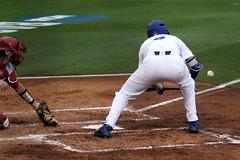 Christian Hicks Bunt Single (dbadair) Tags: florida gators uf university sec baseball ncaa regionals gainesville 2017 college world series winners first national title omaha