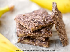 Raw Banana Chia Bars (Bitter-Sweet-) Tags: vegan food healthy raw rawfood dehydrated wholesome wholefood highfiber fresh vegetables productreview produce snack bananas chiaseeds chewy bars