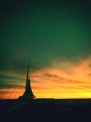 Remind Me of Milwaukee If I Forget (Thomas Hawk) Tags: america calatrava milwaukee milwaukeeartmuseum usa unitedstates unitedstatesofamerica wisconsin sunset us fav10 fav25 fav50 fav100