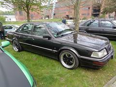 Audi V8 (911gt2rs) Tags: treffen meeting show event zeche ewald youngtimer limousine schwarz black tuning tief stance d11 4c