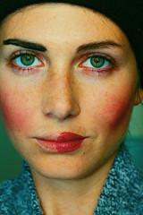 POP POP POP POP (Anne-Sophie Landou) Tags: portrait woman womanportrait makeup face closeup colors selfie