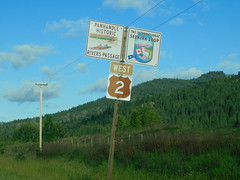 Idaho Scenic Highway Sign (jimmywayne) Tags: idaho dover bonnercounty historic us2 selkirk loop panhandle rivers scenic byway highway sign