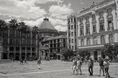Mono Malaga... (zapperthesnapper) Tags: malaga andalucia espana spain blackandwhite monochrome mono square cityscape city sonyrx100 sony sonyimages sonycybershot sonyrx architecture architectural