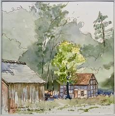 "Maison d'Hesbaye Namuroise (alainhonoratlefebvre dit "" ALHO "") Tags: croquis aquarelle hesbaye namur sthubert fourneausaintmichel"