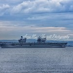 Second one of the Queen Elizabeth as she waited for low tide. #thequeenelizabeth #royalnavy #scotland #fife #firthandforth #carrier #ship #largest #onceinalifetime #impressive thumbnail