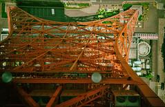 Tokyo Tower - Straight Down (Kim Yokota) Tags: tokyotower tokyo japan 2017 observationdeck nikond7000 nikonafsnikkor24mmf14ged structure architecture red