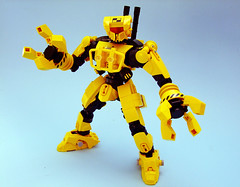 CR-03 Heavycrank (Djokson) Tags: robot mecha construction dozer crusher yellow black totallynotatransformer djokson lego moc bionicle model toy