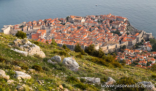 Dubrovnik old town from the hillside