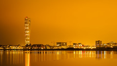 Malmö nights (Karsten Gieselmann) Tags: 1240mmf28 em5markii europa farbe gebäude gold licht mzuiko malmo malmö meer microfourthirds nacht olympus reise rot schweden skyline turningtorso wolkenkratzer building color golden kgiesel light m43 mft night red sea skyscraper travel sweden skane