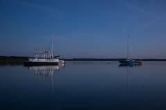 Two Boats (modestmoze) Tags: ships water boats sailboat 2017 500px travel explore horizon line trees forest lake sky clouds evening sunset black reflection outside outdoors blue white green floating landscape nature transport transportation two