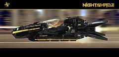 FZG: Nightshade (Bricking It) Tags: formulazerogravity fzg lego racer wipeout legowipeout space nightshade