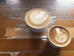Good morning, my Friend. (cliffordswoape) Tags: coffeeshop professor teacher lesson warm latte mocha cappuccino joe morning recycle floor basketball friend cups cup life usa florida jacksonville vagabond coffee