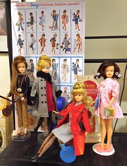 ...And here's Tressy's fabulous fashion parade! (ModBarbieLover) Tags: tressy fashion palitoy doll growinghair 1964 1965 mod leather sleepwear brunette