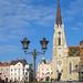 NOVI SAD, SERBIA - NOVEMBER 2009 Catholic Cathedral in Vojvodina