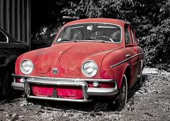Renault Dauphine (Matthew P Sharp) Tags: renault car selectivecolor selectivecolour cars automobile auto luminar luminarneptune