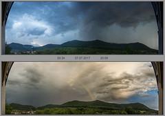 Durchzug eines Gewitters (Dieter Meyer) Tags: gewitter beuren hohenneuffen panorama wetterbild wolken wolkenhimmel schwäbische alb badenwürttemberg germany thunderstorm himmel sky clouds