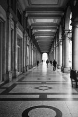 Via Roma (albireo 2006) Tags: viaroma italy italia torino turin blackwhitephotos blackandwhite blackandwhitephotos blackwhite bw bn portico arcade