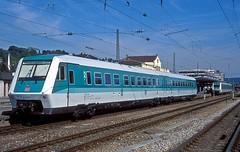 611 023  Tübingen  28.09.97 (w. + h. brutzer) Tags: tübingen eisenbahn eisenbahnen train trains deutschland germany triebzug triebzüge triebwagen zug db 611 railway webru analog nikon