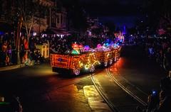 A Pretty Dopey Parade Float (Matt Valeriote) Tags: disneyland disney californiaadventure mainstreetusa parade mainstreetelectricalparade lights night float dopey snowwhiteandthesevendwarfs dwarf