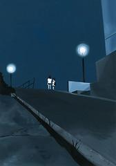 c_0133 (takeshimiyasaka) Tags: night japan illustration ilustração illustrator painting blue light life takeshimiyasaka 絵 夜中 イラスト 暗闇 女子高生