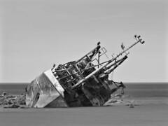 Silver Efex (M2114324 1x1x64 E-M1ii 300mm iso200 f5.6 1_800s) (Mel Stephens) Tags: modified silver efex bw black white average averaged 20170611 201706 2017 q2 cairnbulg inverallochy aberdeenshire scotland uk transport ship wreck shipwreck sovereign abandoned derelict boat coast coastal olympus omd em1ii ii mzuiko 300mm pro m43 microfourthirds mirrorless best mft june geotagged