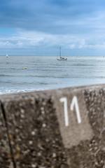 View of the dike (Sohmi ︎) Tags: france french vendée saintgillescroixdevie dike mer sea sky ocean pierres stones clouds summer2017 travel boat nikond810 tamronsp2470mm ©sohmi wwwsohmifr