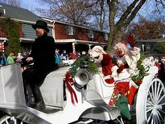 16 Santa (megatti) Tags: carriage christmas lahaska mrsclaus pa parade peddlersvillage pennsylvania santa