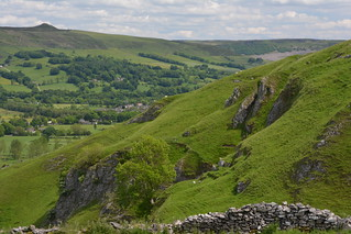 Beyond The Stone Wall, Peak District National Park, Derbyshire, England.
