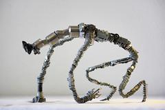 Folivore (Vortex67) Tags: monstre art metal handmade wire sculpture recycled robot craft monster
