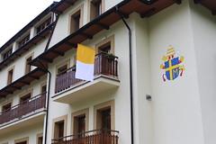Księżówka, widok na okna apartamentu papieskiego