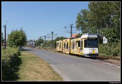 DL 6021 - Lombardsijde Bad (Spoorpunt.nl) Tags: 10 juni 2017 bn wagen de lijn tram 6021 lombardsijde bad pick up bahlsen