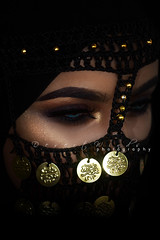 The Crows (DesertWindsPhotography) Tags: photography jewelry makeup art blue gold red arab arabic uae qatar saudi arabia black colorful morocco fabric hijab women portrait indoor bright background bedouin egypt egyptian desert winds مصر bellydancer belly dancing
