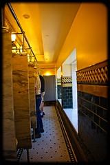 YELLOWSTOE LODGE LINEUP (akahawkeyefan) Tags: bathroom yellowstonelodge davemeyer wyoming urinals