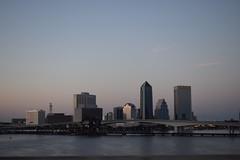 Jacksonville (dzmears) Tags: water skyscraper clouds sunset florida jacksonville