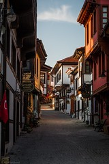 History Street (Anthony P26) Tags: architecture category eskisehir external flickrpost odunpazari places travel turkey architecturephotography streetphotography travelphotography houses ottoman cobblestone canon1585mm canon70d canon shops sky bluesky restoration