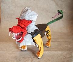 Amazing Mythological Origami Creations You Have to See to Believe (Origami.me) Tags: origami papercraft paper craft crafts diy fold folding mythology myth legend mythological nue