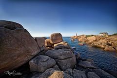 The rocks and the lighthouse (marko.erman) Tags: bretagne france ploumenach côtedegranitrose landscape uwa wideangle sony rocks lighthouse sea sunny perspective pov outside travel voigtländer beautiful