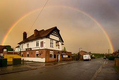 Boat & Horses Rainbow (Julian Barker) Tags: boat horses pub public house drink local community trent road beeston rylands nottingham nottinghamshire brewery england great britain uk julian barker canon dslr rainbow full sky cloud dark atmosphere weather
