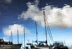 Altered reality - HTT! (Jo Evans1 - Off and on for a while) Tags: altered reality different perspective reflections boats sky clouds texture htt ttt