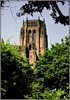 Cathedral tower framed (* RICHARD M (Over 7 MILLION VIEWS)) Tags: liverpoolcathedral liverpoolanglicancathedral cathedrals sandstonebuildings liverpoollandmarks stjamescemetery framing scapes anglican churchofengland cathedralchurchofchristinliverpool cathedralchurchoftherisenchristliverpool stjamesmount architecture listedbuildings grade1listedbuildings liverpool merseyside europeancapitalofculture capitalofculture
