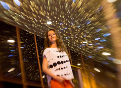 Myriad Of Stars (mikhailkorzhalov) Tags: canon russianlens 37mm portrait people woman girl pretty model lady beautifulgirl beautiful night highlight highlights face citylights light lights reflection reflections beautifulpeople experiment experimental