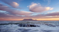 Ephemeral Mountain (Panorama Paul) Tags: paulbruinsphotography wwwpaulbruinscoza southafrica westerncape capetown tablemountain blaauwbergbeach waves rocks sunset nikond800 nikkorlenses nikfilters