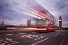Cliche _ Westminster Bridge 2017 (Sandipa Malakar (bristii)) Tags: slowshutter canon6d dusk evening cliche lighttrail streetscape uk londonaceous londonist london southbank bigben westminsterbridge westminster redbus