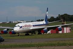 Douglas DC-8-62 ZS-OSI Stars Away International (Retro Jets) Tags: starsaway dc8 manston
