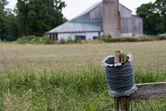 Roll on the Fence (Brad_McKay) Tags: ifttt 500px field landscape wire nature summer grass fence countryside agriculture country barn rural farm outdoors barbed hayfield canada ontario