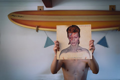 Aladdin Sane (Paisley patches) Tags: griffin album vinyl aladdin sane bowie indoor people surfboard