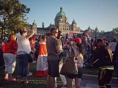 Canada Day Bubbles (JohnnyJayEh) Tags: victoria victoriabc parliamentbuildings canadaday