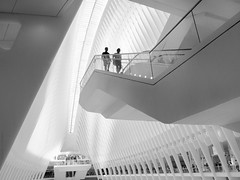 Oculus staircase (marianna_a.) Tags: oculusp1370831 blackandwhite blackwhite monochrome urban city nyc manhattan worldtradecenter mariannaarmata