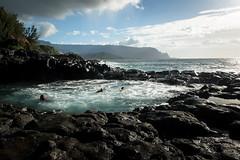 Queen's Bath (Ben Haller) Tags: hawaii big island volcano national park lava kilauea kauai nkon d750 arial landscape nature waterfall