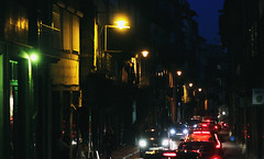 I'll be seein' you wherever I go (Therese Trinko) Tags: portugal porto europe europa travel night city street lights colorful